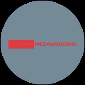 Socialpædagogernes logo i grå cirkel